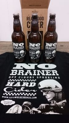 NoBrainer 3 x bottle gift box and T-shirt