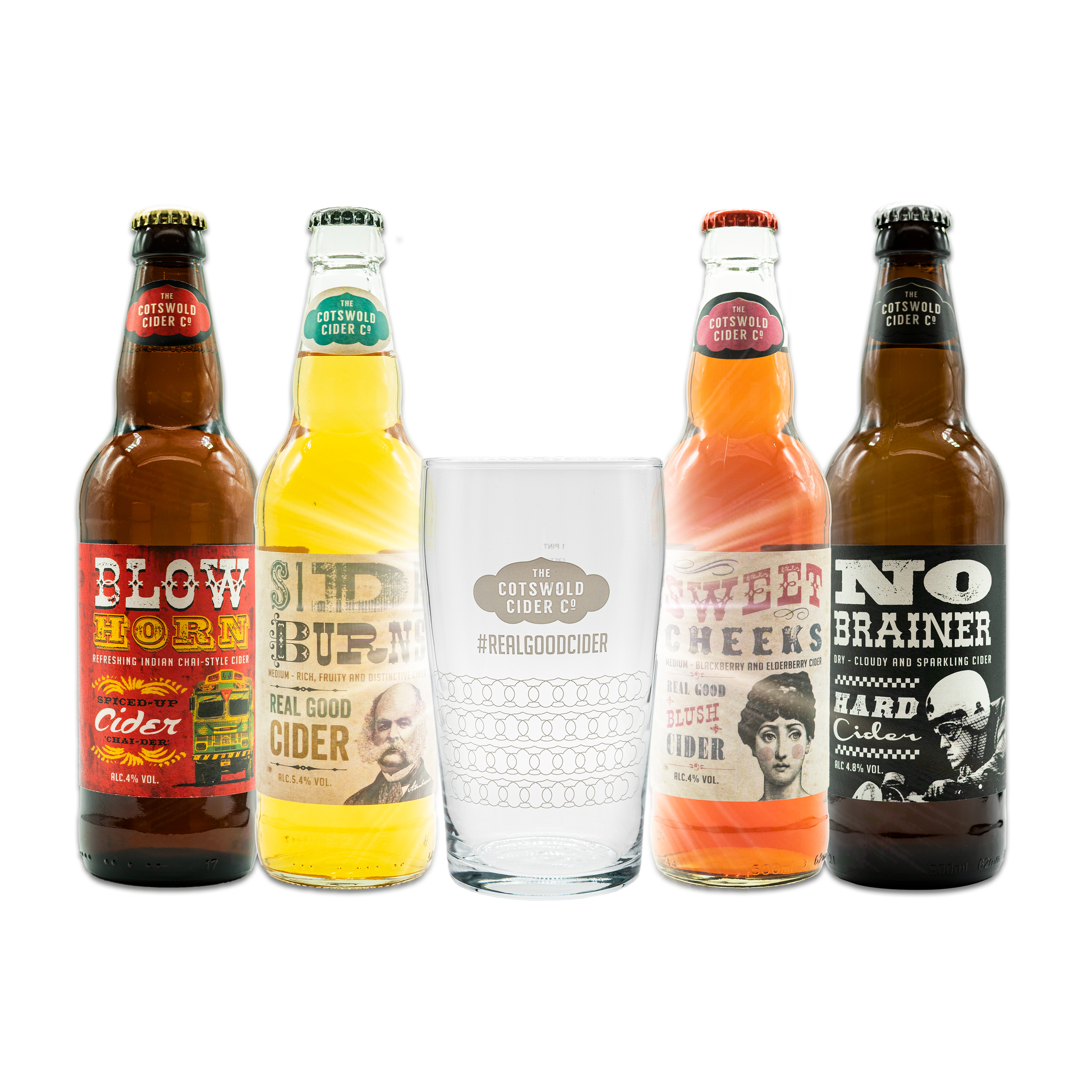 4 Bottle Mixed Box and Pint Glass
