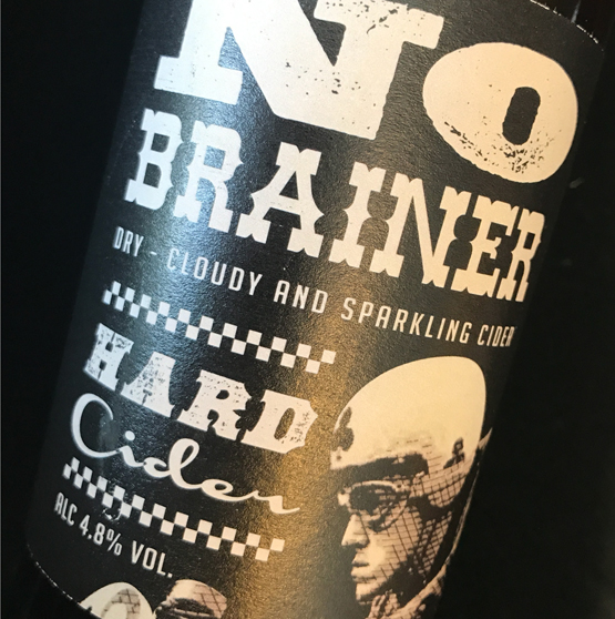 No Brainer Sparkling. Dry, Cloudy Session Cider 4.8%